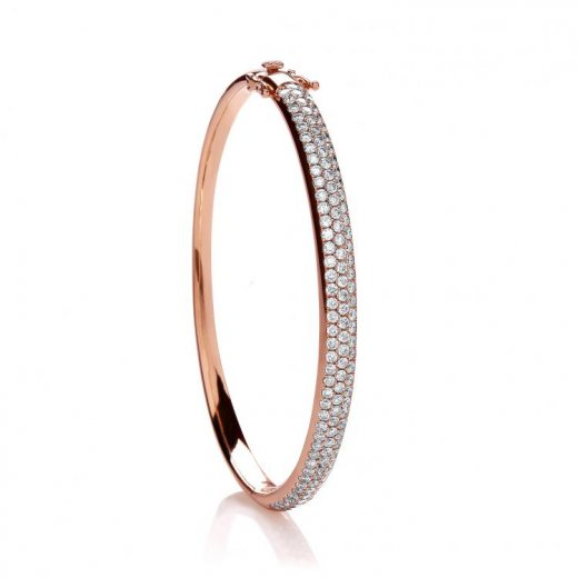 Cherubs Jewellery 18ct Rose Gold Diamond Bangle