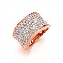 18ct Rose Gold Pave Diamond Set Ring 2.00ct G/H Si