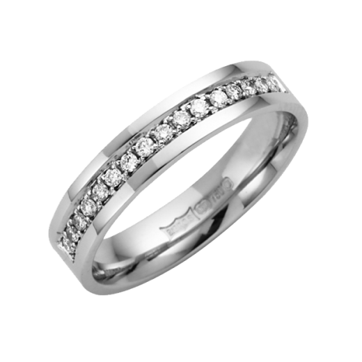 Cherubs Jewellery 18ct White Diamond Wedding Ring 4mm