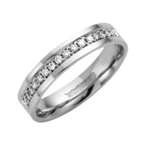 18ct White Diamond Wedding Ring 4mm