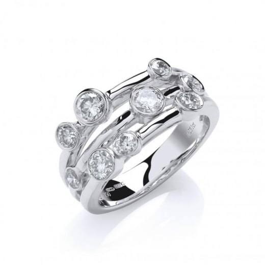 Cherubs Jewellery 18ct White Gold 1.30ct H-SI Diamond Dress Ring