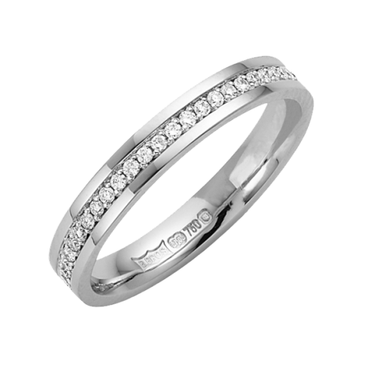 Cherubs Jewellery 18ct White Gold 3mm Diamond Wedding Band