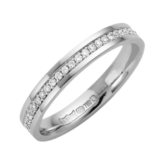 18ct White Gold 3mm Diamond Wedding Band
