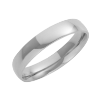 18ct White Gold Court Shaped Wedding Ring 4mm