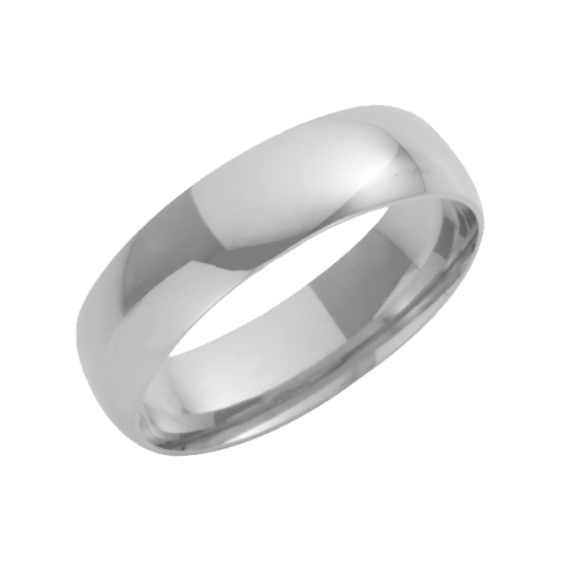 Cherubs Jewellery 18ct White Gold Court Shaped Wedding Ring 6mm