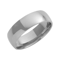 18ct White Gold Court Shaped Wedding Ring 7mm