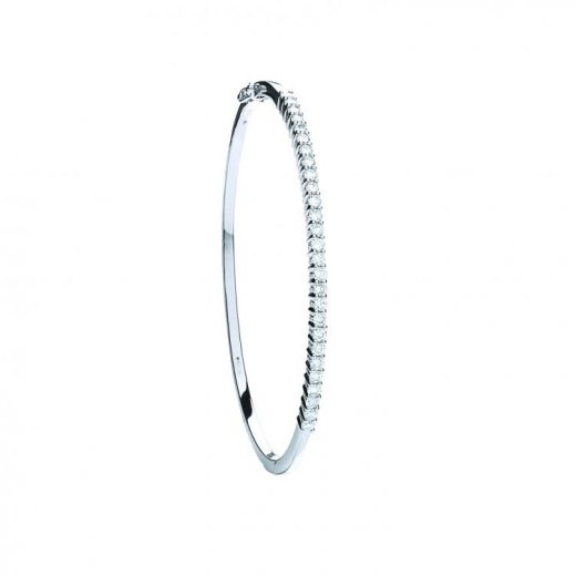 Cherubs Jewellery 18ct White Gold & Diamond Bangle