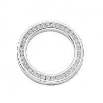 18ct White Gold Diamond Circle Pendant .50ct