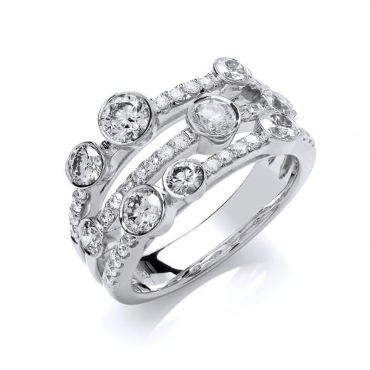 Cherubs Jewellery 18ct White Gold Diamond Dress Ring 1.60ct GH-SI