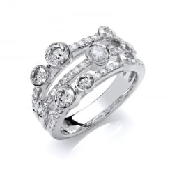 18ct White Gold Diamond Dress Ring 1.60ct GH-SI