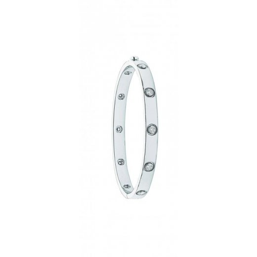 Cherubs Jewellery 18ct White Gold Diamond Hinged Bangle