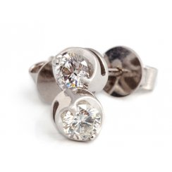 18ct White Gold Diamond Solitaire Earrings .50ct