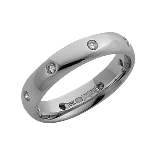 Cherubs Jewellery 18ct White Gold Diamond Wedding Ring 4mm