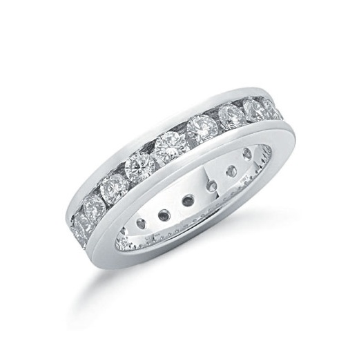 Cherubs Jewellery 18ct White Gold Full Diamond Set Eternity Ring 2.00ct G/H Si