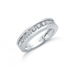 18ct White Gold Half Diamond Eternity Ring 1.00ct G/H Si
