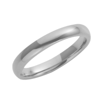 18ct White Gold Heavy Court Wedding Ring 3mm