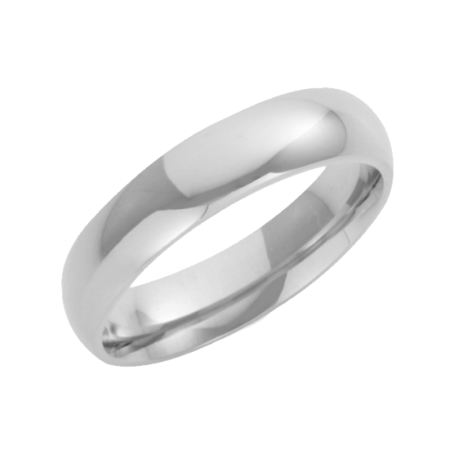 Cherubs Jewellery 18ct White Gold Heavy Court Wedding Ring 4mm