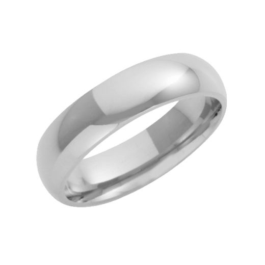 Cherubs Jewellery 18ct White Gold Heavy Court Wedding Ring 5mm