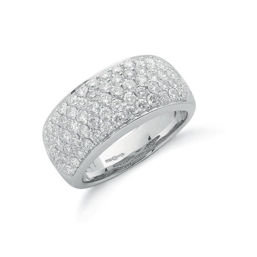Cherubs Jewellery 18ct White Gold Pave Diamond Ring 1.60ct