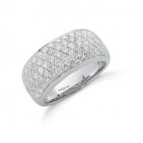 18ct White Gold Pave Diamond Ring 1.60ct