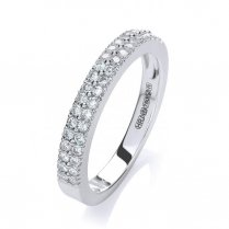 18ct White Gold Two Row Diamond Eternity Ring .35ct G/H Si