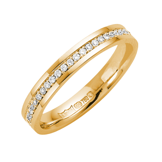 Cherubs Jewellery 18ct Yellow Gold 3mm Diamond Set Wedding Ring