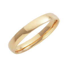 18ct Yellow Gold Court Shaped Wedding Ring 2mm