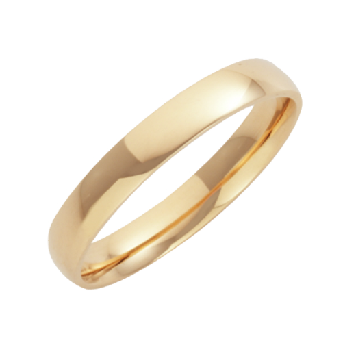 Cherubs Jewellery 18ct Yellow Gold Court Shaped Wedding Ring 3mm