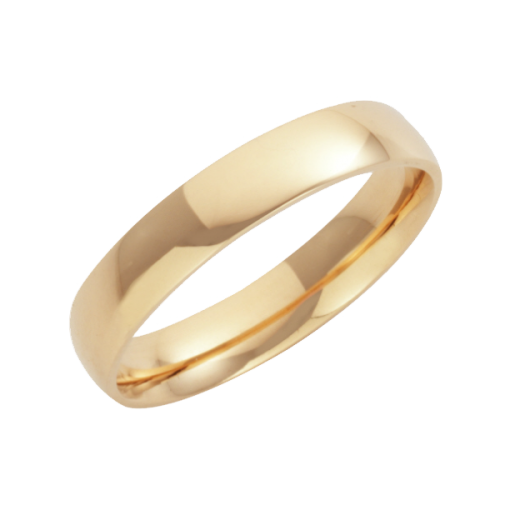 Cherubs Jewellery 18ct Yellow Gold Court Shaped Wedding Ring 4mm