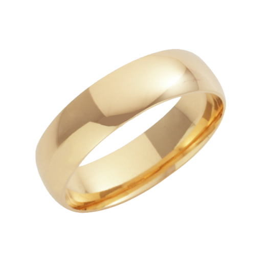 Cherubs Jewellery 18ct Yellow Gold Court Shaped Wedding Ring 6mm