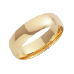 18ct Yellow Gold Court Shaped Wedding Ring 6mm