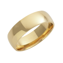 18ct Yellow Gold Court Shaped Wedding Ring 7mm