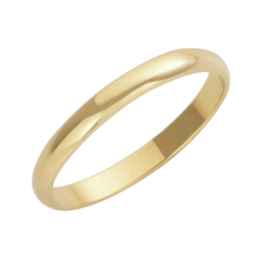 18ct Yellow Gold D-Shape Wedding Ring 3mm