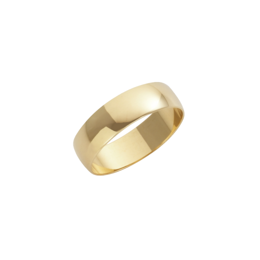 Cherubs Jewellery 18ct Yellow Gold D-Shape Wedding Ring 5mm