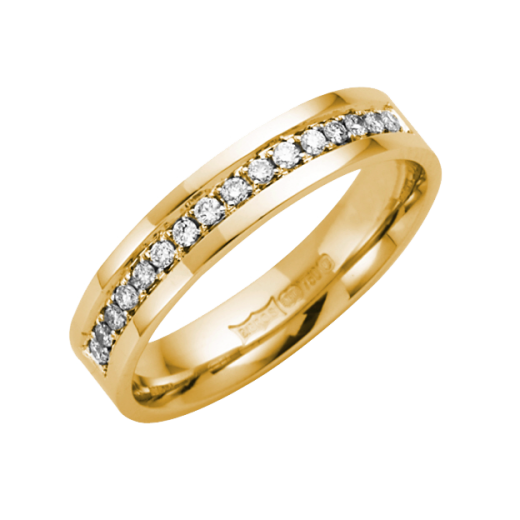 Cherubs Jewellery 18ct Yellow Gold Diamond Ring 4mm