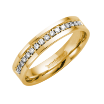 18ct Yellow Gold Diamond Ring 4mm