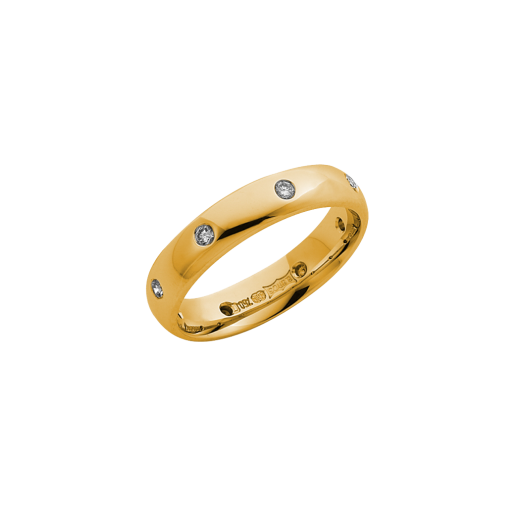 Cherubs Jewellery 18ct Yellow Gold Diamond Wedding Ring 4mm