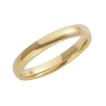18ct Yellow Gold Heavy Court Shaped Wedding Ring 3mm
