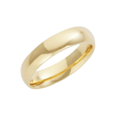 18ct Yellow Gold Heavy Court Shaped Wedding Ring 4mm