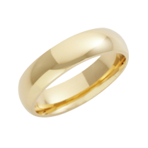 18ct Yellow Gold Heavy Court Shaped Wedding Ring 5mm