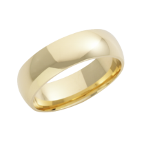 18ct Yellow Gold Heavy Court Wedding Ring 7mm