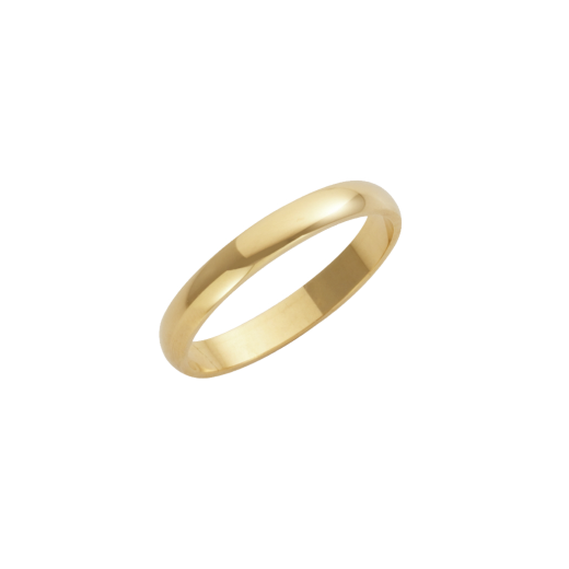 Cherubs Jewellery 18ct Yellow Gold Heavy D-Shape Wedding Ring 3mm