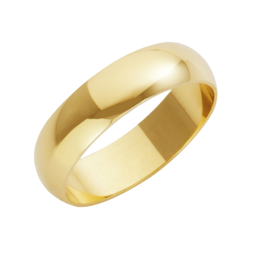 Cherubs Jewellery 18ct Yellow Gold Heavy D-Shape Wedding Ring 5mm
