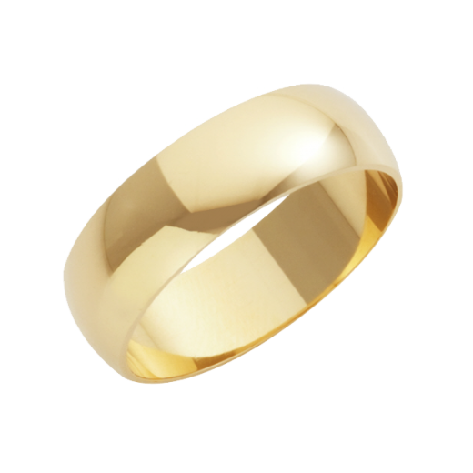Cherubs Jewellery 18ct Yellow Gold Heavy D-Shape Wedding Ring 7mm