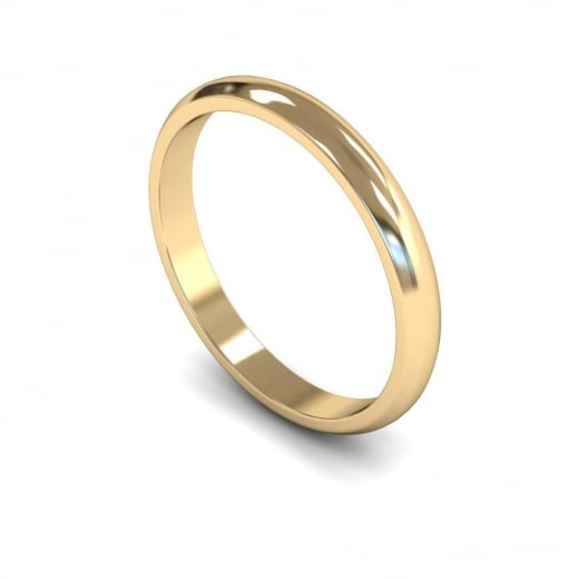 Cherubs Jewellery 18ct Yellow Gold  Light D-Shape Wedding Ring 2.5mm