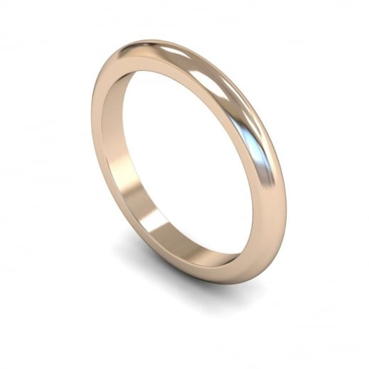 Cherubs Jewellery 2.5mm Heavy D-shape Wedding Ring - 18ct Rose Gold