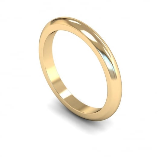 Cherubs Jewellery 2.5mm Heavy D-shape Wedding Ring - 18ct Yellow Gold