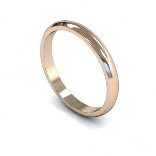 Cherubs Jewellery 2.5mm Light D-shape Wedding Ring - 18ct Rose Gold