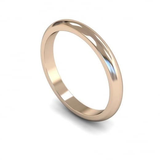 Cherubs Jewellery 2.5mm Medium D-shape Wedding Ring - 18ct Rose Gold