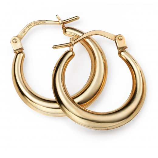 Cherubs Jewellery 9ct Gold Lever Hoop Earrings